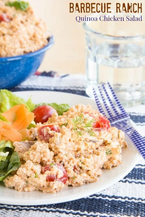 Barbecue Ranch Quinoa Chicken Salad by Cupcakes and Kale Chips