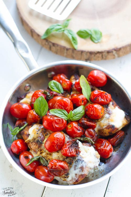 Grilled or Skillet Caprese Chicken by Life Made Sweeter