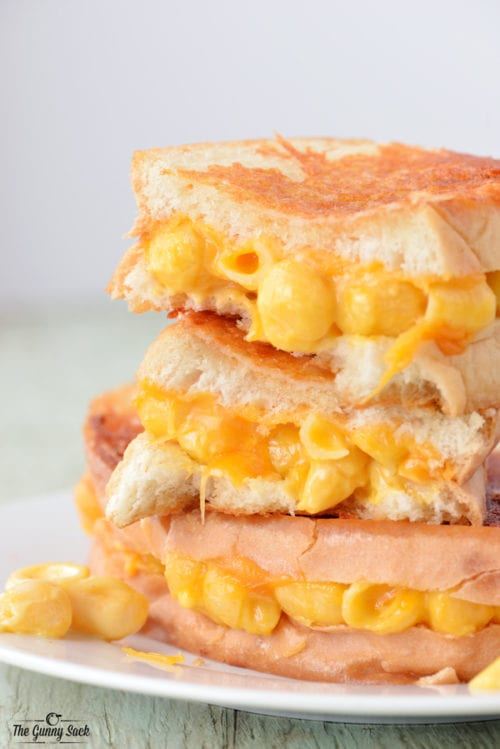 Grilled Macaroni and Cheese Sandwich by The Gunny Sack