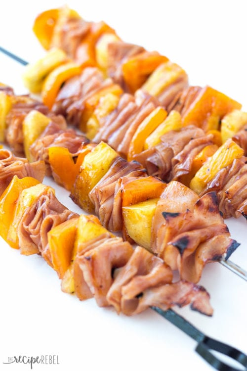 Hawaiian Ham and Pineapple Skewers by The Recipe Rebel
