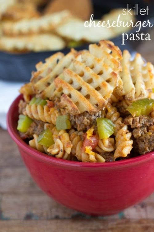 Skillet Cheeseburger Pasta by Chelsea's Messy Apron