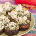 Artichoke Spinach Dip Stuffed Mushrooms