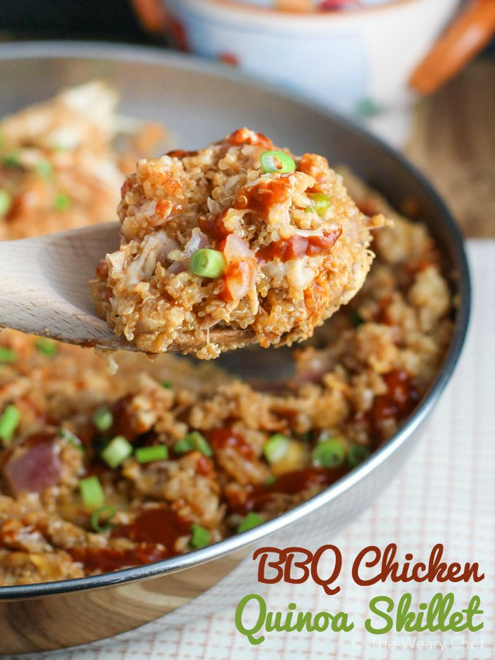 Quinoa Bbq Chicken Skillet The Weary Chef