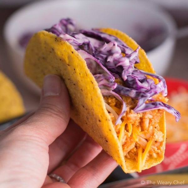 You won't believe how easy it is to make these fun BBQ Chicken Tacos! Your family will love this dinner!