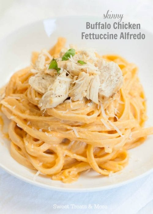 Buffalo Chicken Fettuccine Alfredo by Sweet Treats & More