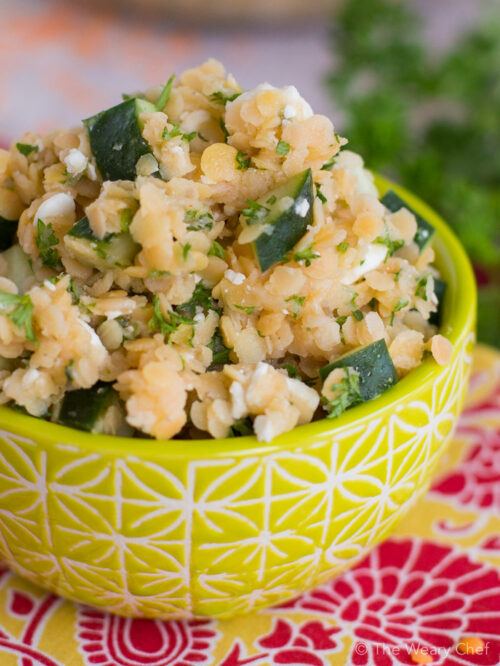 This light, tasty lentil salad is a quick and healthy side dish!