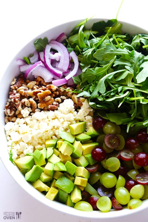 Grape, Avocado and Arugula Salad by Gimme Some Oven