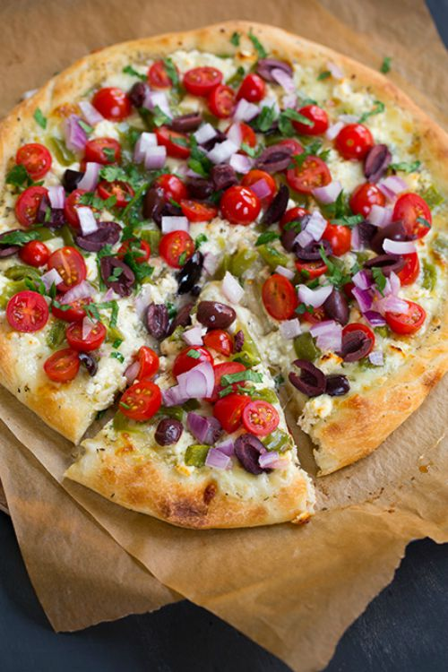 Greek Pizza by Cooking Classy (featured on The Weary Chef)