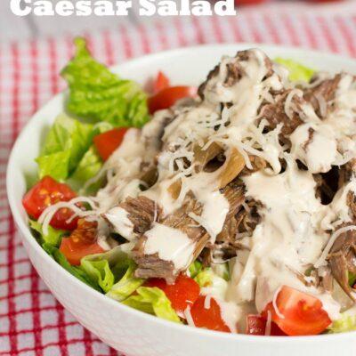 Slow Cooked Beef Caesar Salad