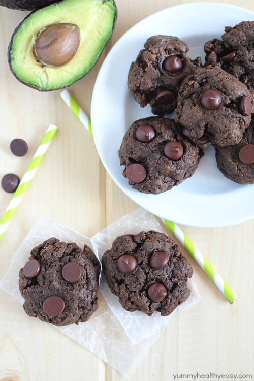 Double Chocolate Avocado Cookies by Yummy Healthy Easy