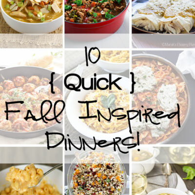 Quick Fall Inspired Dinners