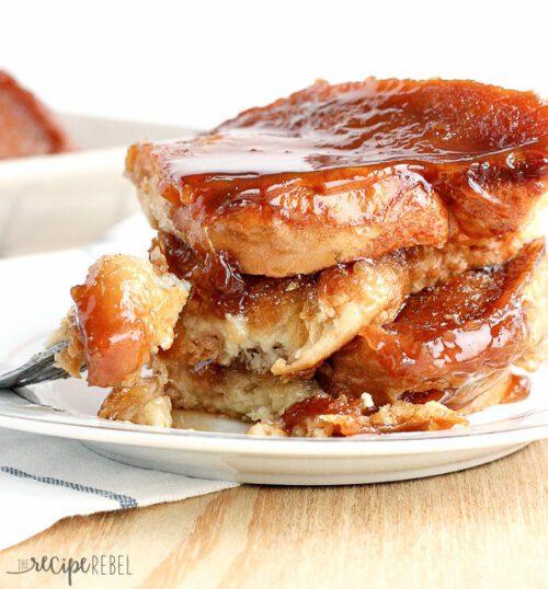 Light Overnight Caramel French Toast - The Recipe Rebel