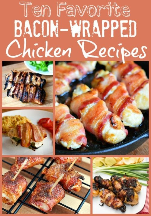 Get ready for a treat with these savory bacon-wrapped chicken recipes!
