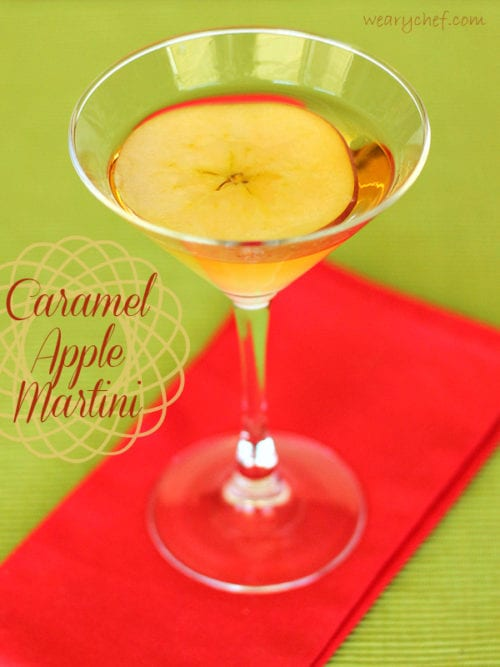 Caramel Apple Martini - The Weary Chef