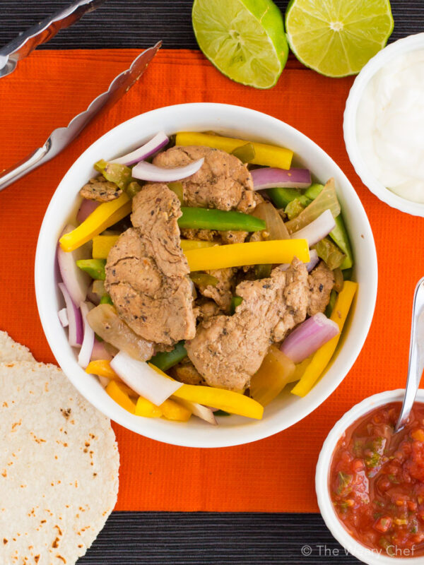Imagine a fast, delicious, family-friendly dinner, and these easy pork fajitas will surely come to mind!