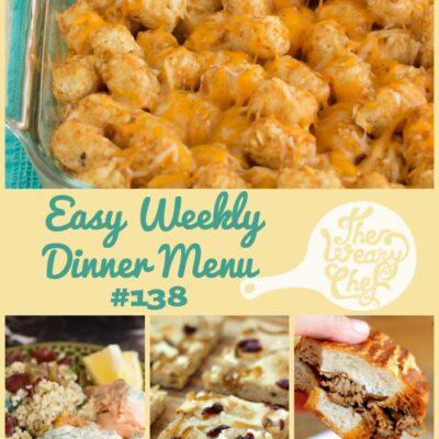 Easy Weekly Dinner Menu #138: Diet Schmiet