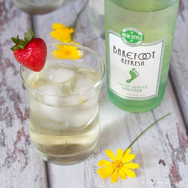 Kick back this weekend with a cool, crisp glass of Barefoot Refresh!