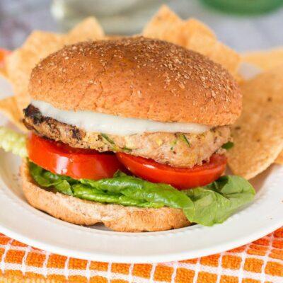 Parmesan Squash Turkey Burgers