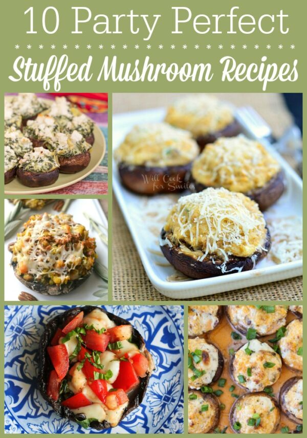 These stuffed mushroom recipes include caprese, seafood, and even Thanksgiving leftover fillings. It's mushroom lover heaven!