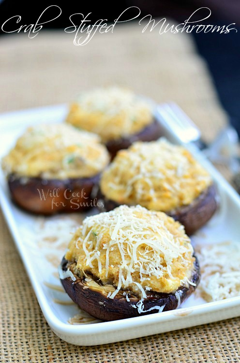 Crab Stuffed Mushrooms by Will Cook for Smiles