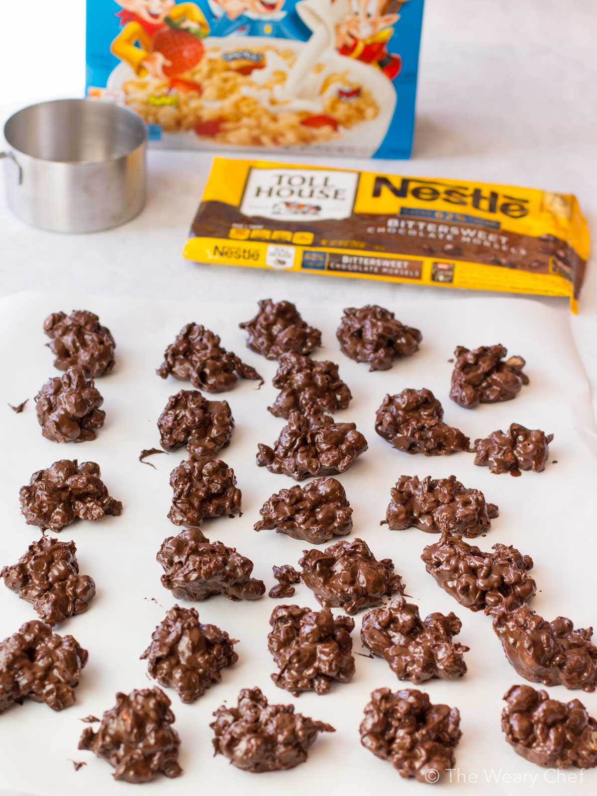 These crispy, crunchy Dark Chocolate Peanut Clusters are fun and easy to make. Perfect for holiday gifts!