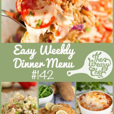 Easy Weekly Dinner Menu #142: Deep Thoughts