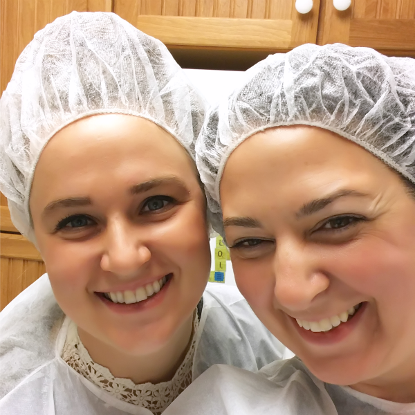 Touring food production facilities involves a lot of hairnets.