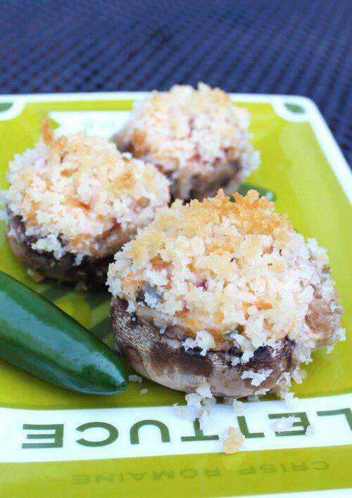 Jalapeño Popper Stuffed Mushrooms by Smile Sandwich