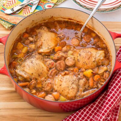 One Pot Chicken with Sausage and Beans