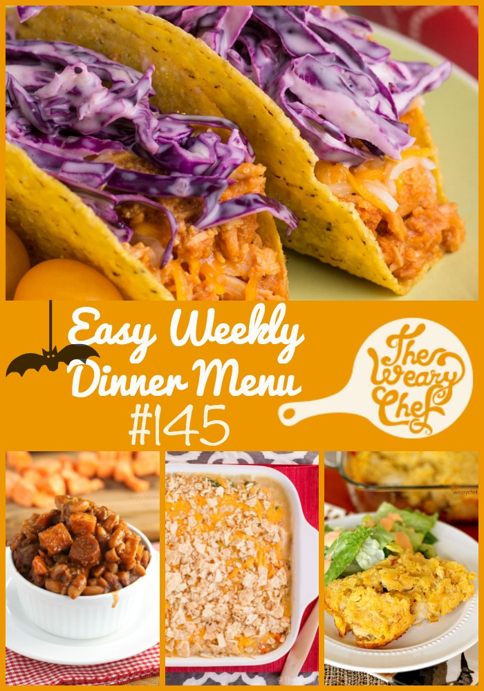 This week's dinner menu will satisfy your sweet tooth with easy dinner recipes featuring sweet potatoes, BBQ sauce, cornbread, and lots more!