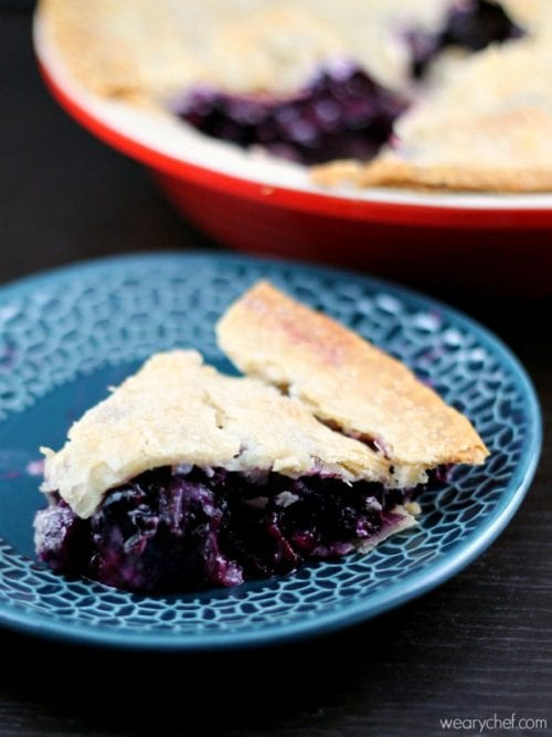 Blueberry Pie - The Weary Chef