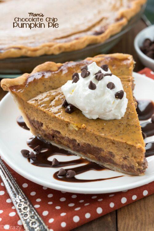 Chocolate Chip Pumpkin Pie - Crazy For Crust