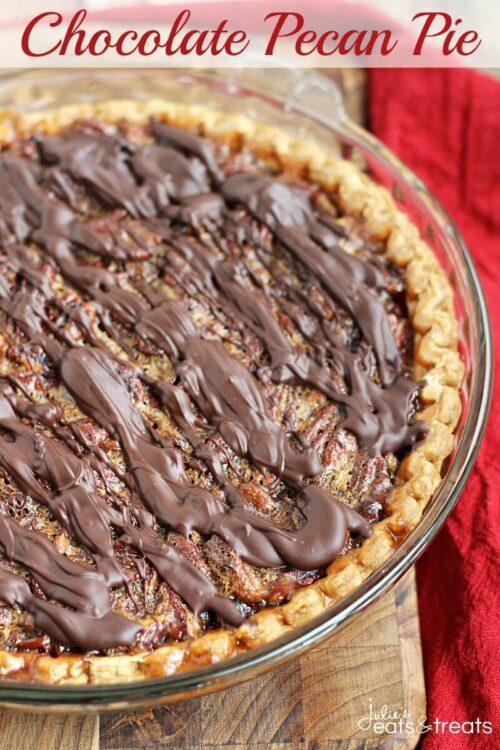 Chocolate Hazelnut Chess Pie - Life, Love and Sugar
