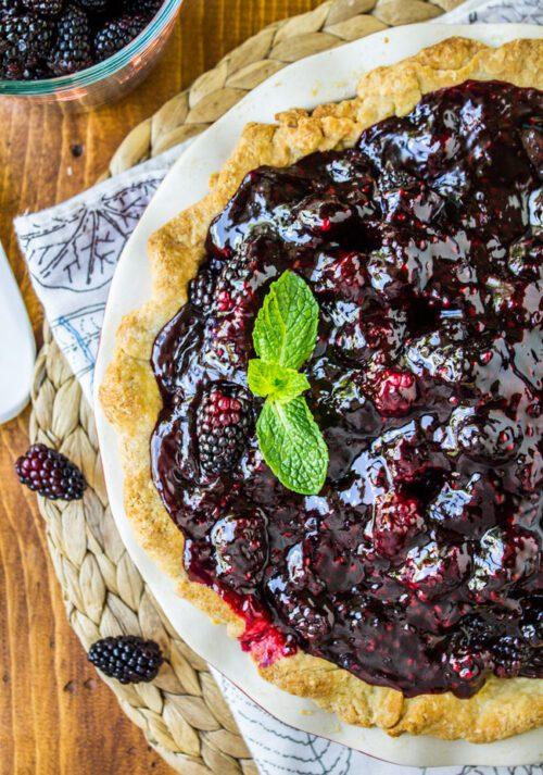 Fresh Blackberry Glacé Pie - The Food Charlatan