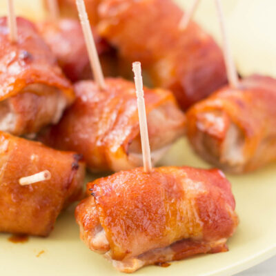 Bacon-Wrapped Teriyaki Pork Bites