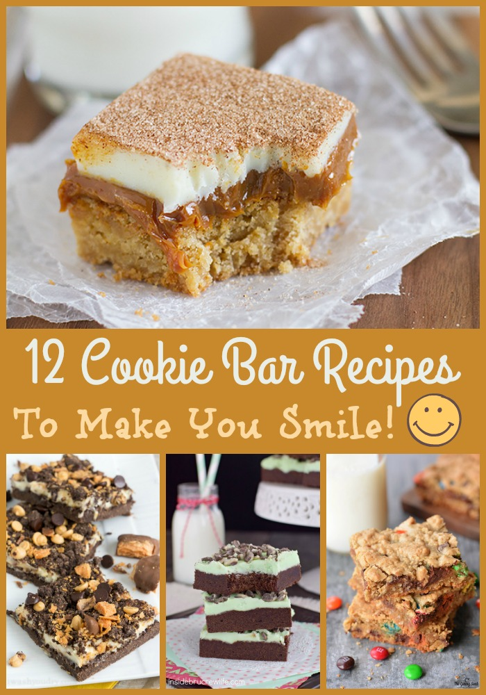 No matter what kind of day you're having, one of these cookie bar recipes is sure to put a smile on your face!