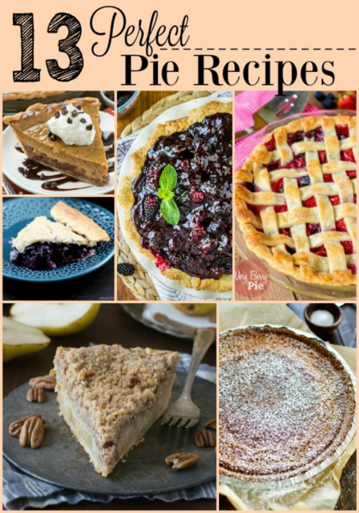 Whether you are baking for the holidays, someone's birthday, or a plain old Thursday, this list of Perfect Pie Recipes will have the perfect dessert for you!