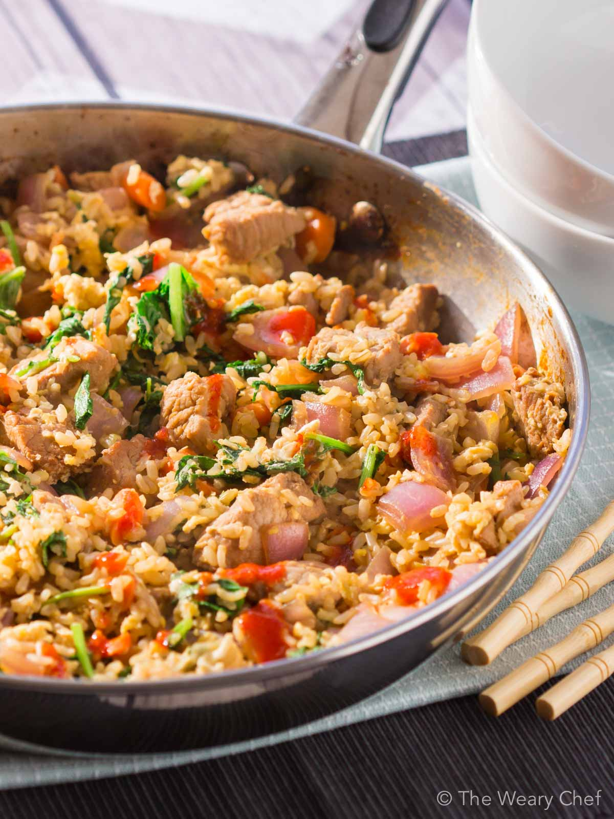 This quick and flavorful pork fried rice can be made in under 20 ...