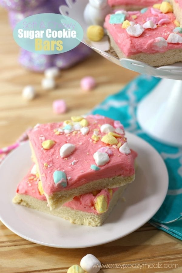 Soft and Chewy Sugar Cookie Bars by Eazy Peazy Mealz