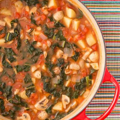 Tuscan Chicken Soup with Potatoes and Kale