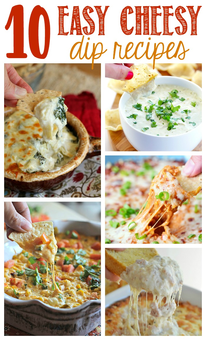 10 Cheesy Dip Recipes featured on The Weary Chef