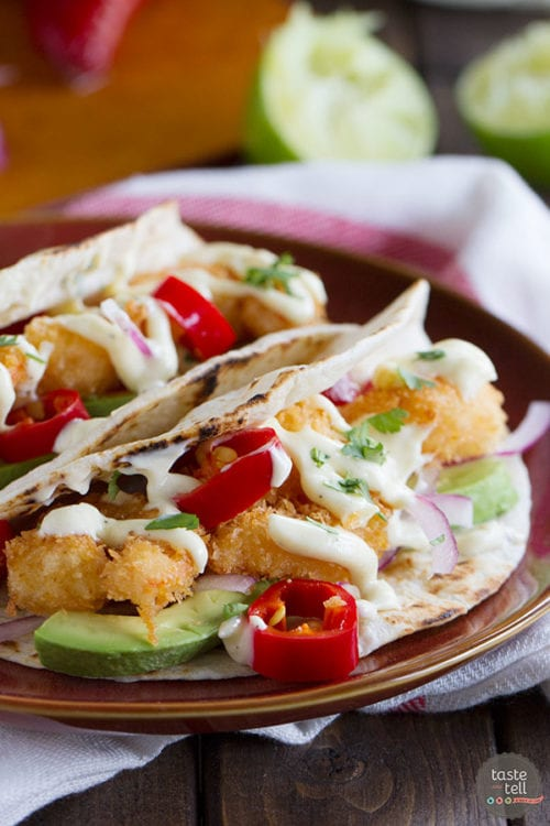 Crispy Shrimp Taco Recipe by Taste and Tell Blog
