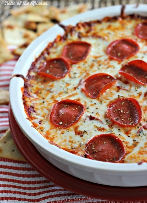 Pepperoni Pizza Dip by Belle of the Kitchen