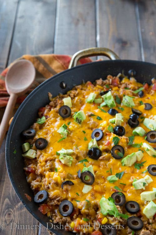 Mexican Rice Skillet By Dinners And Desserts