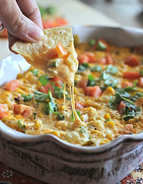 Cheesy Hot Corn Dip by Belle of the Kitchen