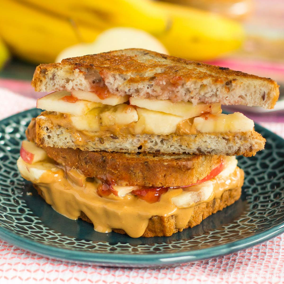 Your peanut butter jelly sandwich just got an upgrade. Try this ooey-gooey grilled PBJ with banana and apple, and you'll never want to go back to the original!