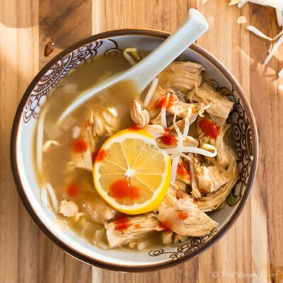 Lemon Ginger Chicken Soup