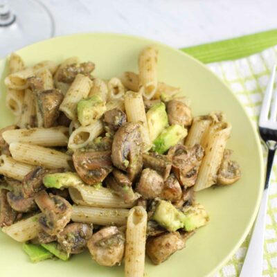 Mushroom Avocado Pesto Pasta Recipe