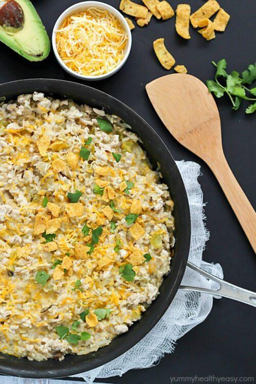 One-Pot Turkey Skillet Recipe by Yummy Healthy Easy