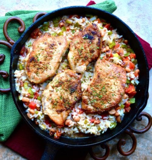 Poor Girl's Spicy Pork Chops and Rice by Maebells